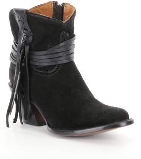 Lucchese Robyn Western Suede Fringe Detail Booties