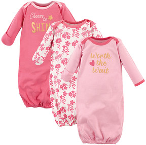 Luvable Friends Pink 'Worth the Wait' Gown Set - Newborn