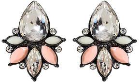Amrita Singh Peach & Ivory Austrian Crystal Pondicherry Stud Earrings