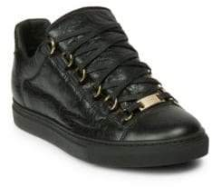 Balenciaga Arena Leather Low-Top Sneakers