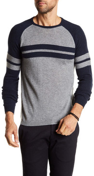 Autumn Cashmere Raglan Sleeve Striped Cashmere Sweater
