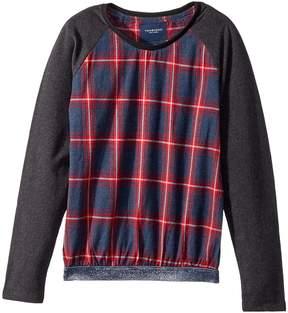 Toobydoo Fancy Flannel Sweatshirt w/ Sparkle Belt Girl's Sweatshirt