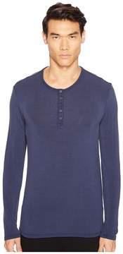 ATM Anthony Thomas Melillo Sun Bleached Long Sleeve Henley Men's T Shirt