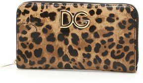 Dolce & Gabbana Zip Around Wallet - LEO CON LOGO|MARRONE - STYLE