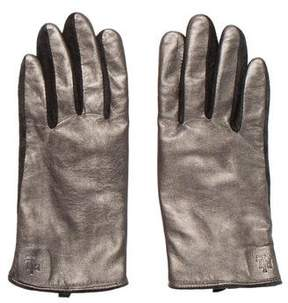 Ralph Lauren Metallic Leather Gloves