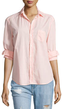 Frank And Eileen Eileen Button-Front Poplin Shirt, Tangerine