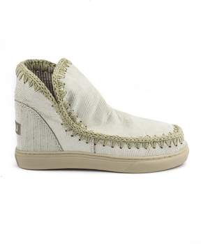 Mou Eskimo Sneaker In White Leather.