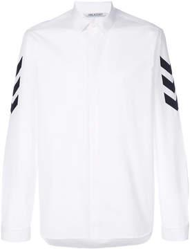 Neil Barrett arrow print sleeve shirt