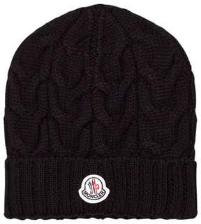 Moncler Black Wool Beanie
