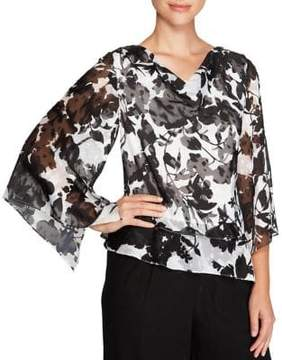 Alex Evenings Three-Quarter Asymmetric Blouse