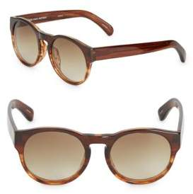 Dries Van Noten Gradient Round Sunglasses