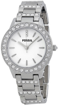 Fossil Glitz White Dial Stainless Steel Ladies Watch