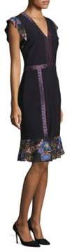 Etro Geometric Cap-Sleeve Dress