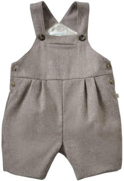 Marie Chantal Baby Boy Wool-Cashmere Romper - Chocolate