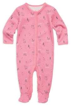 Petit Lem Baby's Deer Cotton Footie