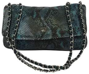 Elie Tahari Blue & Black Snakeskin Shoulder Bag