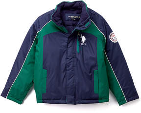 U.S. Polo Assn. Classic Navy Reversible Zip-Up Puffer Coat - Toddler & Boys