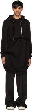 Rick Owens Black Short Twisted Seahorse Hoodie