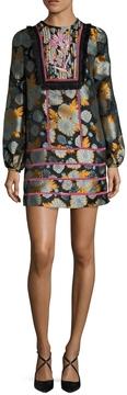 Cynthia Rowley Women's Jacquard Bell Sleeve Dress