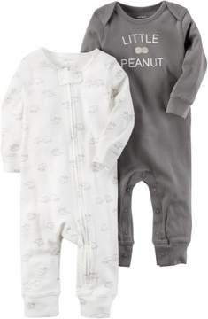 Carter's Baby Boys 2-pk. Little Peanut Jumpsuits