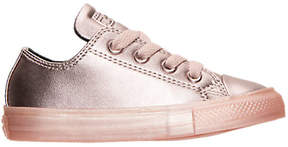 Converse Girls' Toddler Chuck Taylor All Star Ox Leather Metallic Casual Shoes