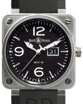 Bell & Ross BR01-96-GD Grande Date Steel Black Dial 46mm Watch