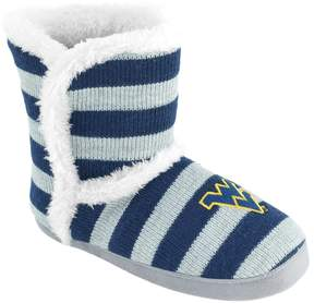 NCAA Women's West Virginia Mountaineers Striped Boot Slippers