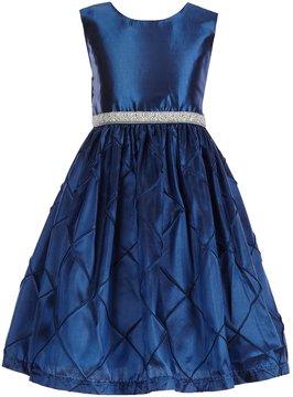 Jayne Copeland Little Girls 2T-6X Pintuck Beaded-Waist Dress