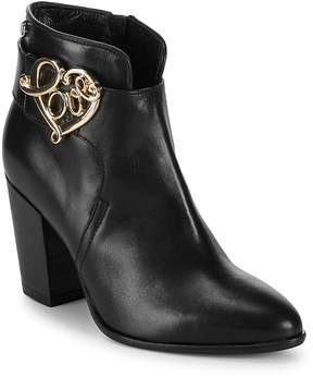 Love Moschino Women's Stacked Heel Leather Booties