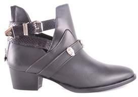Philipp Plein Women's Black Leather Ankle Boots.