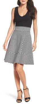 Felicity & Coco Women's Stripe Fit & Flare Dress