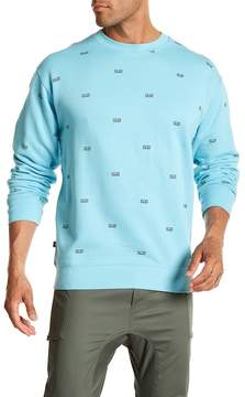 Obey Static Patterned Crew Neck Pullover