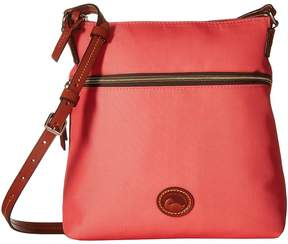 Dooney & Bourke Nylon Crossbody Cross Body Handbags - WATERMELON/TAN TRIM - STYLE