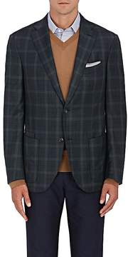 Luciano Barbera Men's Plaid Wool Twill Two-Button Sportcoat