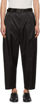 3.1 Phillip Lim Black Relaxed Pleated Belt Trousers