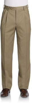 Saks Fifth Avenue BLACK Men's Wool Gabardine Pleated Trousers