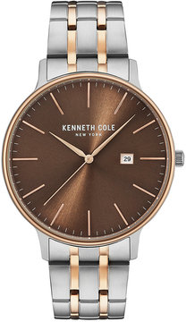 Kenneth Cole New York Men's Two-Tone Stainless Steel Bracelet Watch 42mm KC15095001