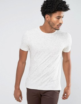 MANGO Man T-Shirt With Speckles In Off White