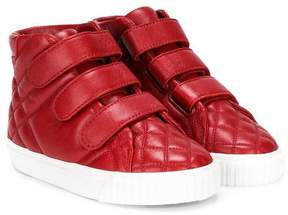 Burberry quilted hi tops