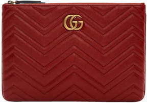 Gucci Red GG Marmont 2.0 Pouch