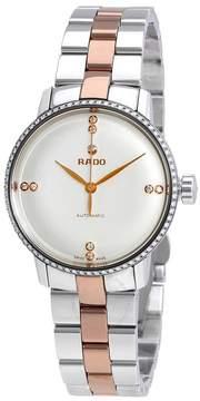 Rado Coupole Classic White Dial Diamond Ladies Watch