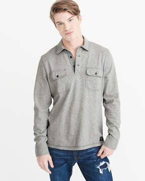 Abercrombie & Fitch Long-Sleeve Heavyweight Polo