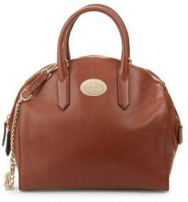 Roberto Cavalli Round Leather Satchel