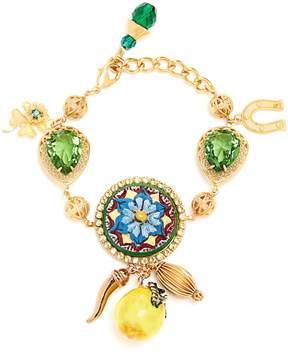 Dolce & Gabbana Floral and lemon-charm embellished bracelet