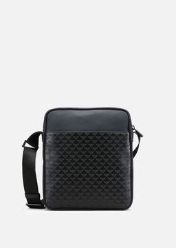 Emporio Armani all-over print cordura and leather cross body bag