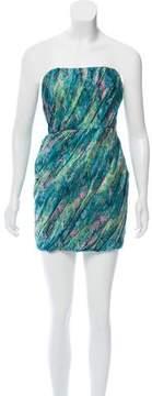 Adam Strapless Silk Mini Dress