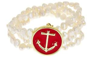 Fornash Freshwaterpearl Anchor Bracelet