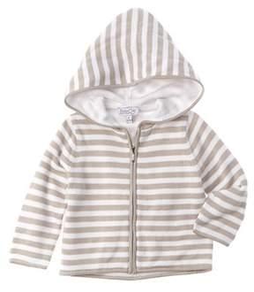 Baby CZ Unisex Moon & White Striped Hoodie.