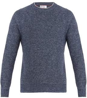 Brunello Cucinelli Crew-neck cotton-melange sweatshirt