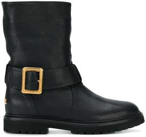 Bally Georgy fur-lined biker boots